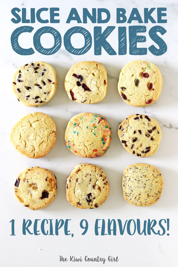 Easy Slice and Bake Cookies (with 9 flavour ideas!)