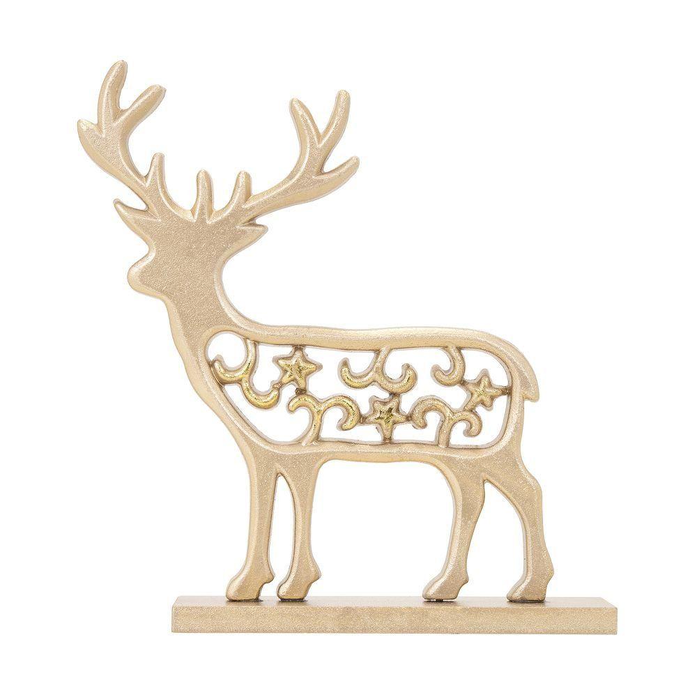A Rena Mais Famosa Do Papai Noel rena decorativa fantasy lumineux 19 cm - home style  camicado