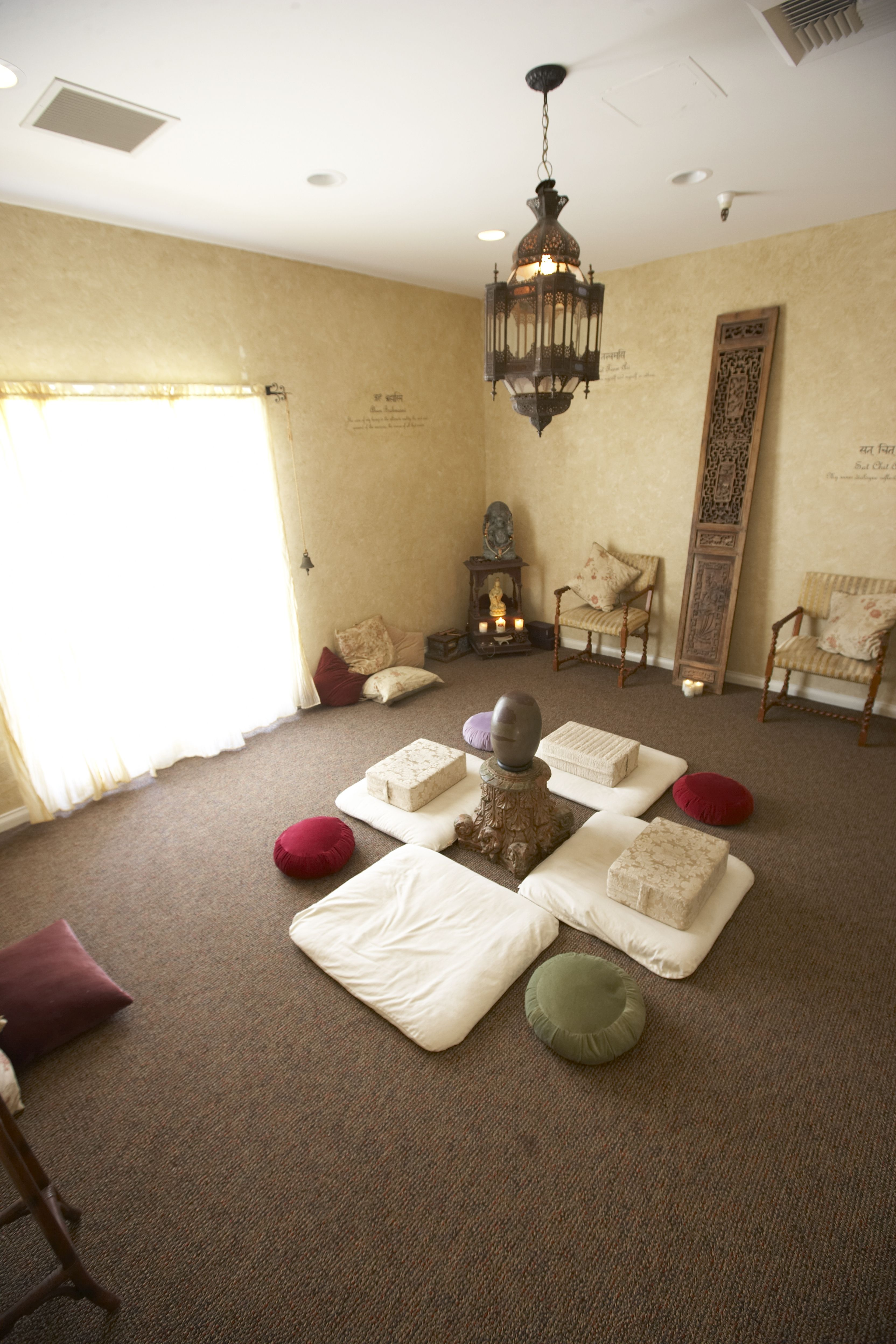 Meditation Space Design meditation room at the chopra center, located in the la costa