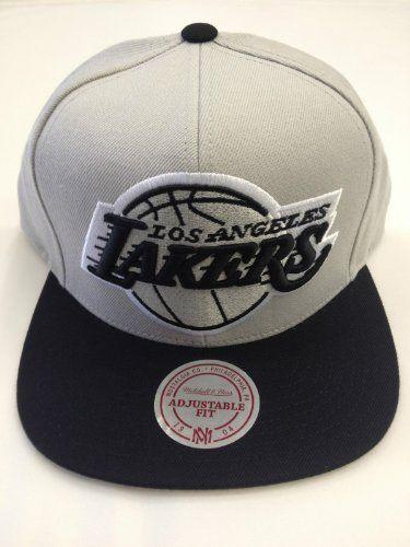 best value 38c38 81b18 MITCHELL   NESS SNAPBACK 2 TONE BIG LOGO NBA LOS ANGELES LAKERS GRAY BLACK  by Mitchell   Ness.  27.99