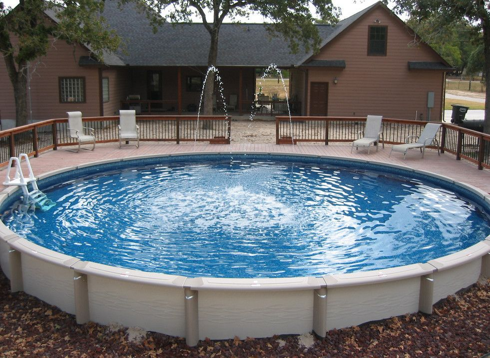 Putting an above ground pool inground house pinterest for Ideas para piscinas intex