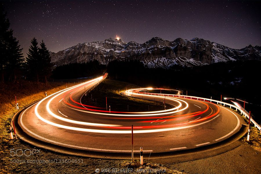 ______Winding Road______ A winding road of switzerland. Nice place to be!  Schwägalp Säntis  Marc B.