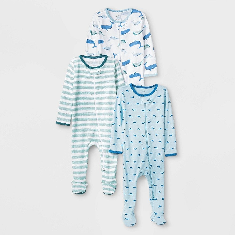 Whale and Tides Unisex-Baby Newborn Short-Sleeve Bodysuit Rompers