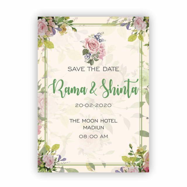 Cartao Floral Do Casamento Di 2020 Contoh Undangan Pernikahan Pernikahan Dan Desain Undangan Perkawinan