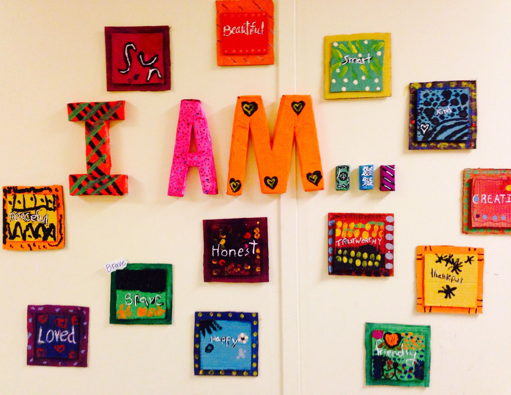 Martin Luther King Inspired Recycled Art K 3 Grade Group