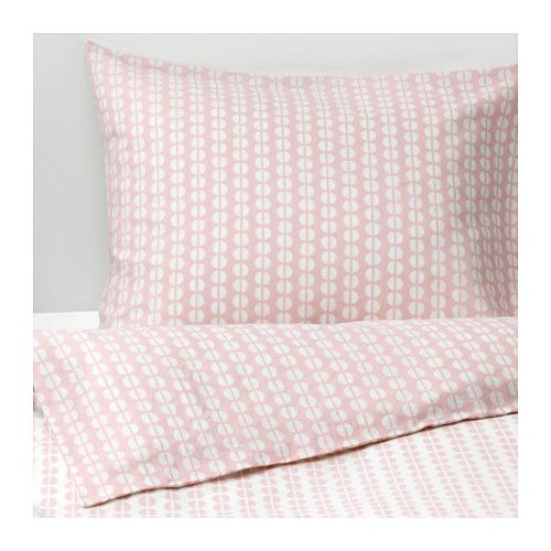 Fjällvedel Quilt Cover And 2 Pillowcases Pink Ikea Bedroom