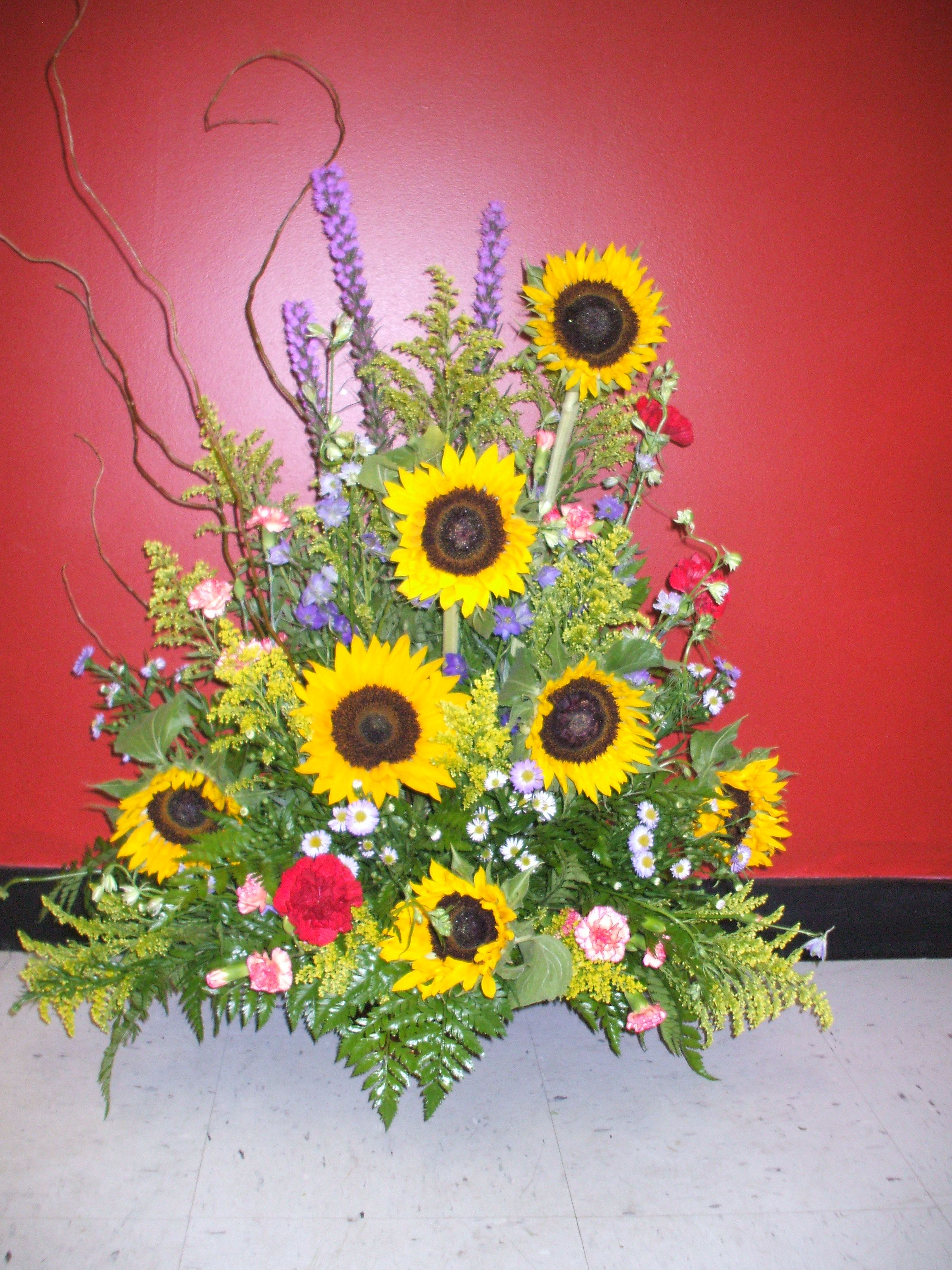 for the altar or church sunflowers are such a happy flower