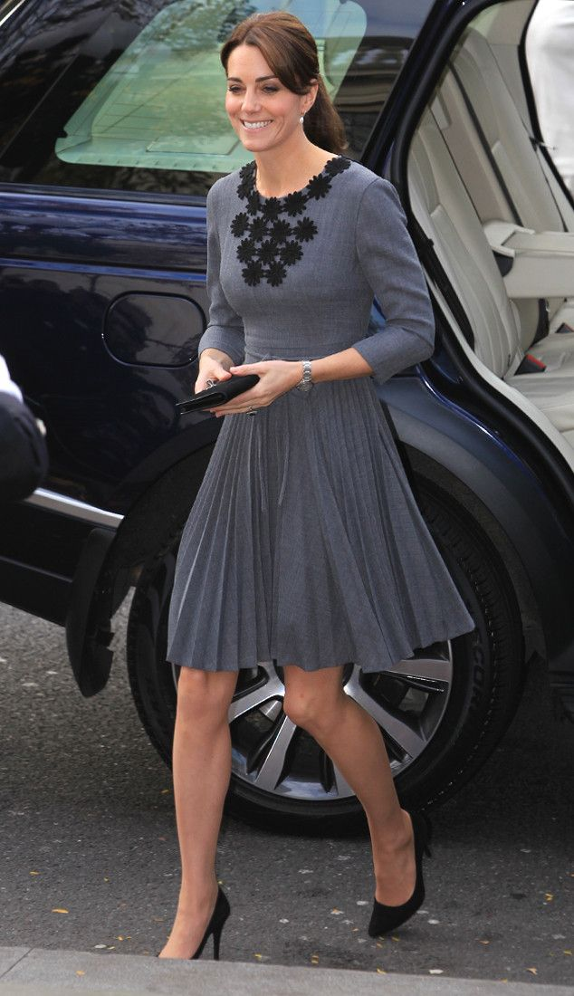 Kate Middleton Steps Out in Glamorous Gray for Meeting with Children's Charity Chance U.K. | E! Online Mobile