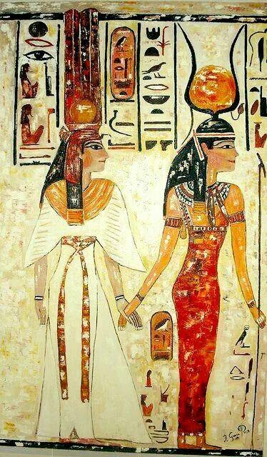NEFERTITI AND ISIS Shared by Edith Cruz | EGYPTIAN DOLLS ...