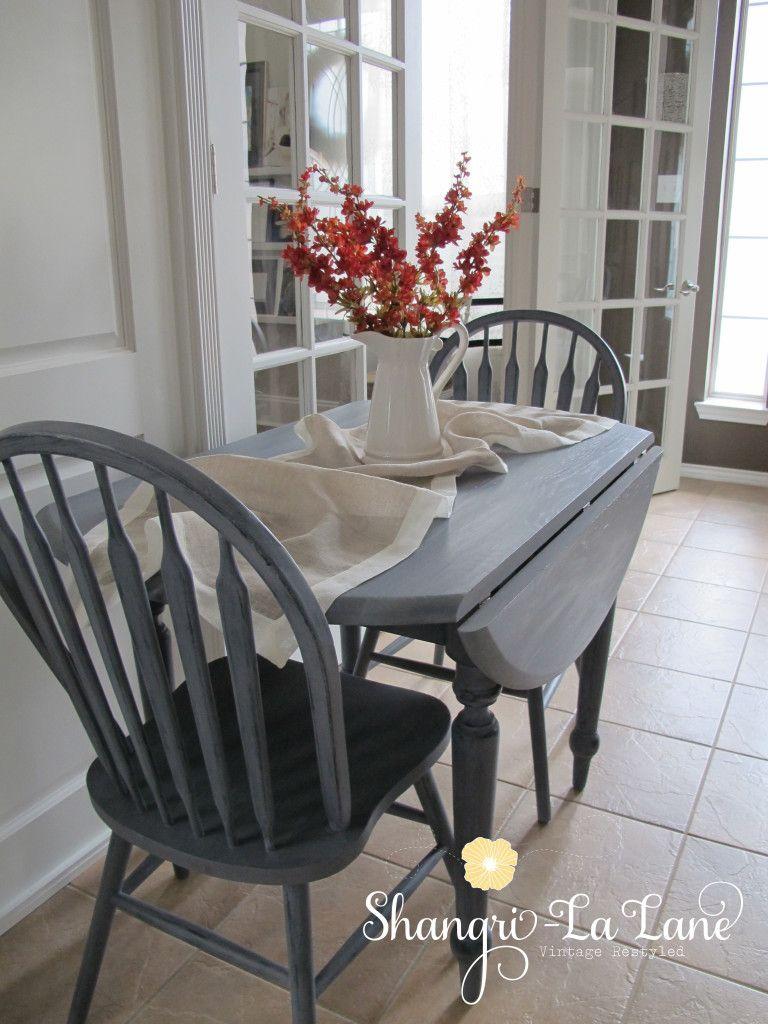 Drop Leaf Kitchen Table Sets Drop Leaf Table Set In Custom Color Mix Of Safe Paint Shangri La