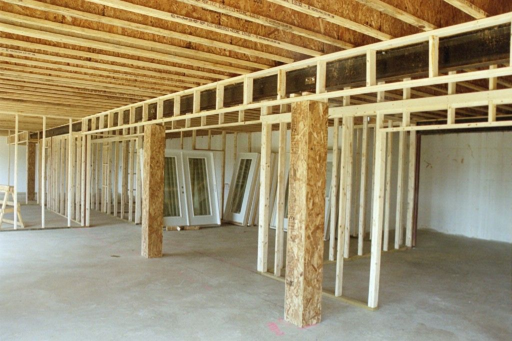 Basement Framing Wall Panorama