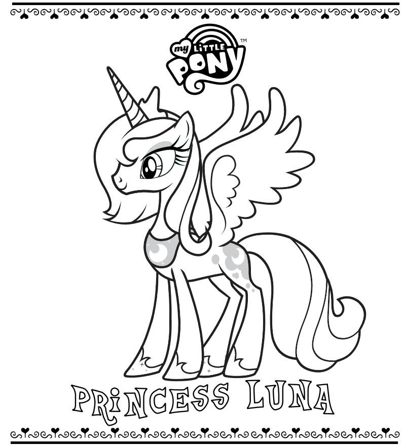 Princess Luna Coloring Pages My little pony coloring
