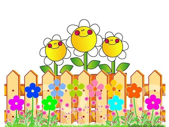 FENCE FLOWER Fences Collections Pinterest Clip Art And Cards - Cartoon fence clip art