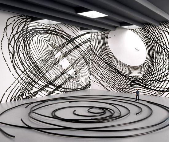 PSEUDODOCUMENTATION, DAVID DIMICHELE  #installation #circles #minimalism #modernart