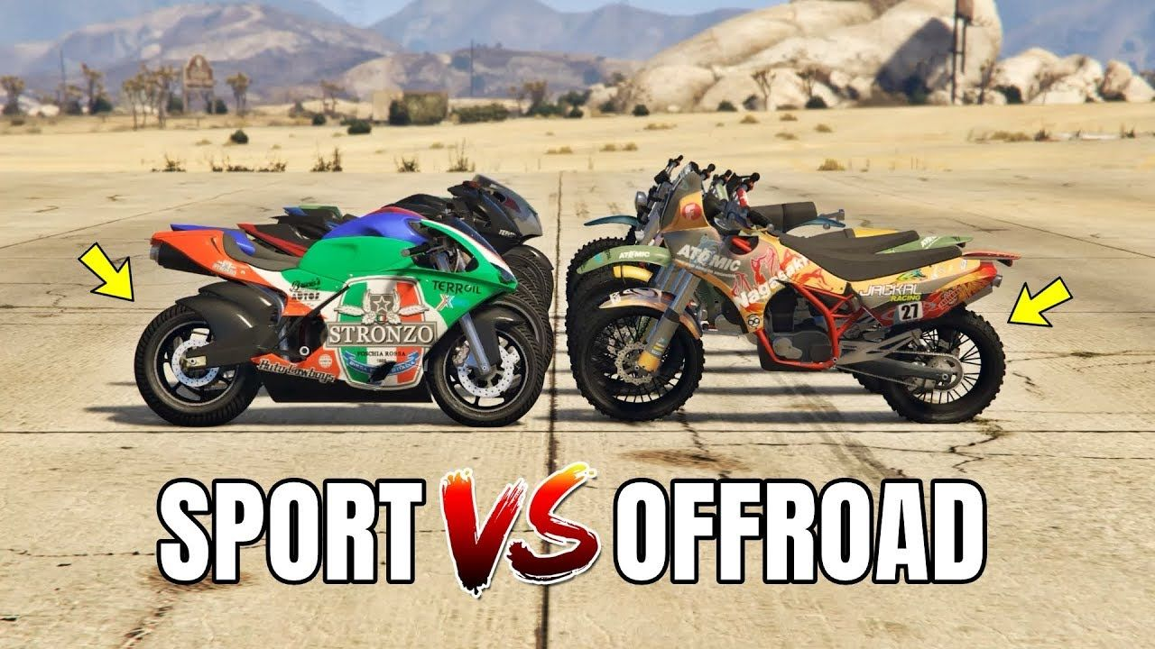Gta 5 Online Sport Bikes Vs Offroad Bikes Which Is Fastest