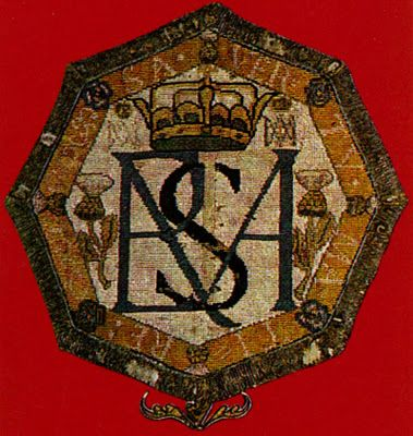 Mary Queen of Scots monogram embroidery