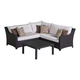RST Brands 4-Piece Deco Aluminum Cushioned Patio Sectional Furniture Set