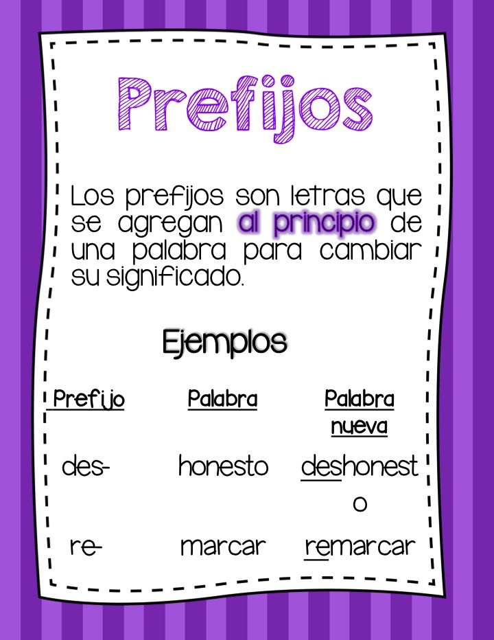 21 Lenguaje Sufijo Y Prefijo Ideas Prefixes And Suffixes Teaching Spanish Bilingual Education