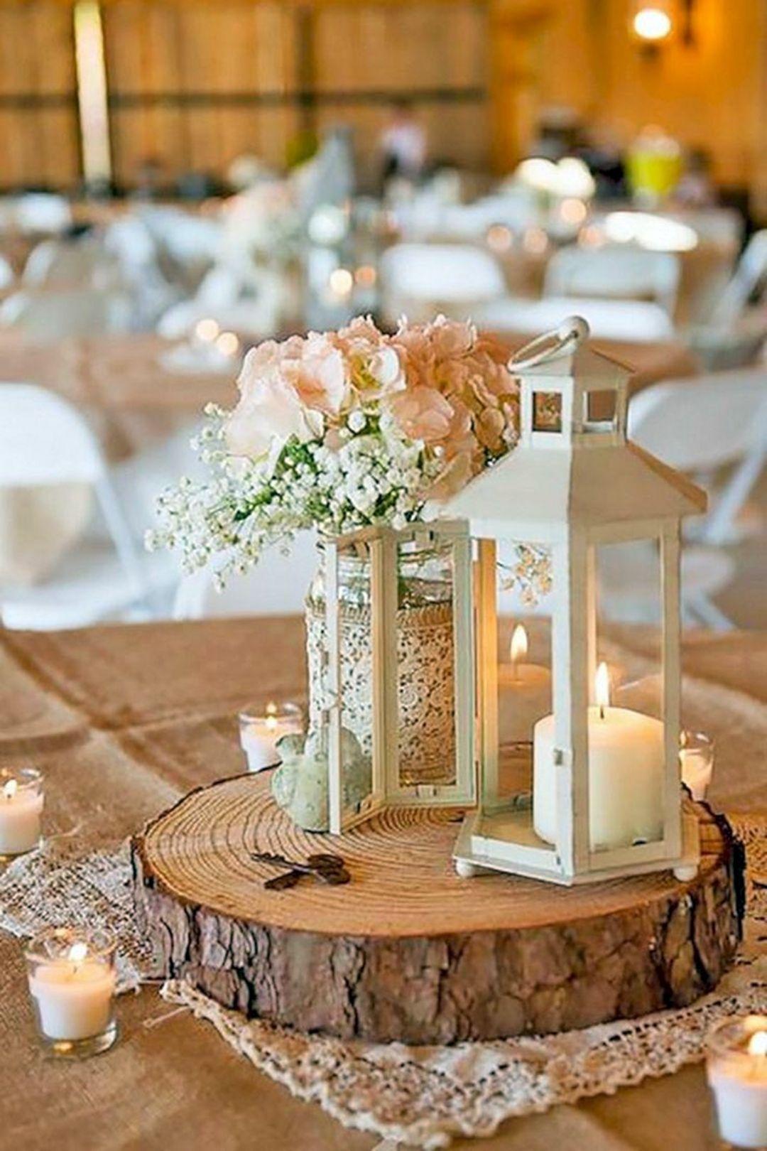 13 Wonderful Rustic Wedding Centerpieces Decor Ideas Fashions Nowadays In 2020 Flower Centerpieces Wedding Cheap Wedding Table Centerpieces Wedding Centerpieces Diy