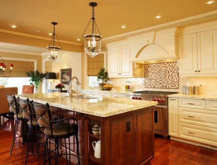 Country Kitchen Designs With Islands   Bing Images | Kitchen Lighting Ideas  For Your Beautiful Kitchen