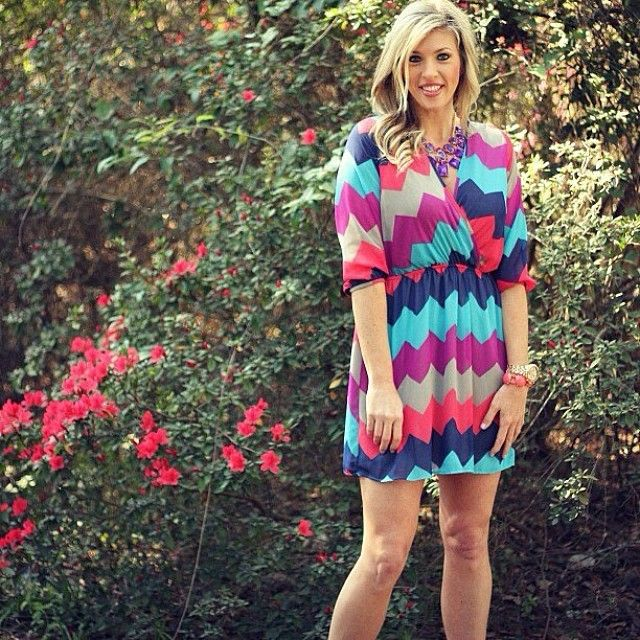 Chevron wrap dress for work or play!