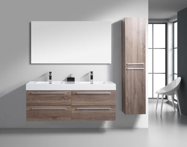 Sophia golden elite 57 light oak modern wall mount - Discount bathroom vanities without tops ...