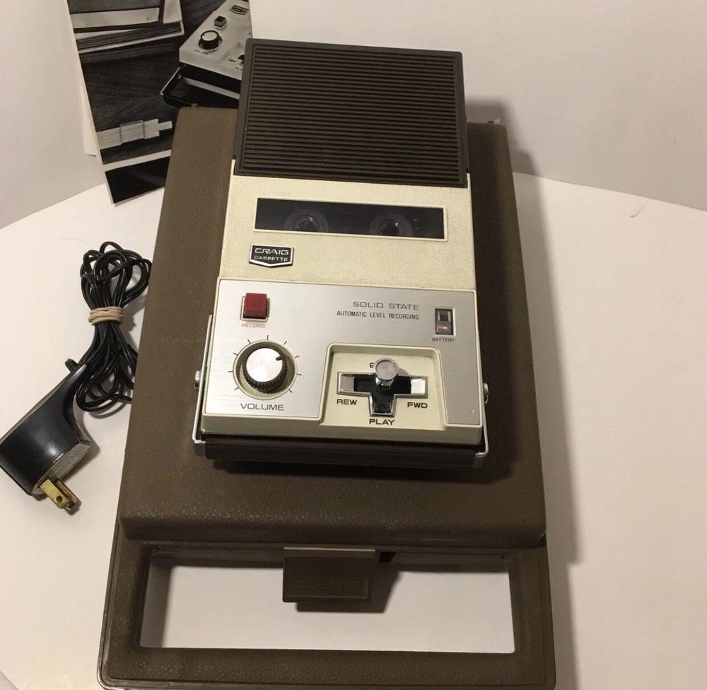 Vintage #Craig Solid State Cassette Recorder Model 2603 T