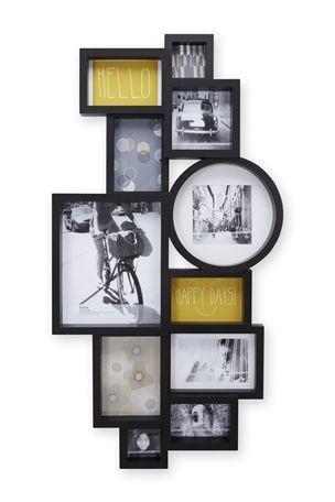 Moda Black Multi Aperture Collage Frame