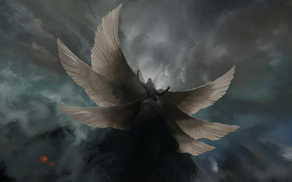 The Seraphim Angel The Highest Choir Of Angels The Six Winged Being Angel Wallpaper Dark Angel Seraph Angel