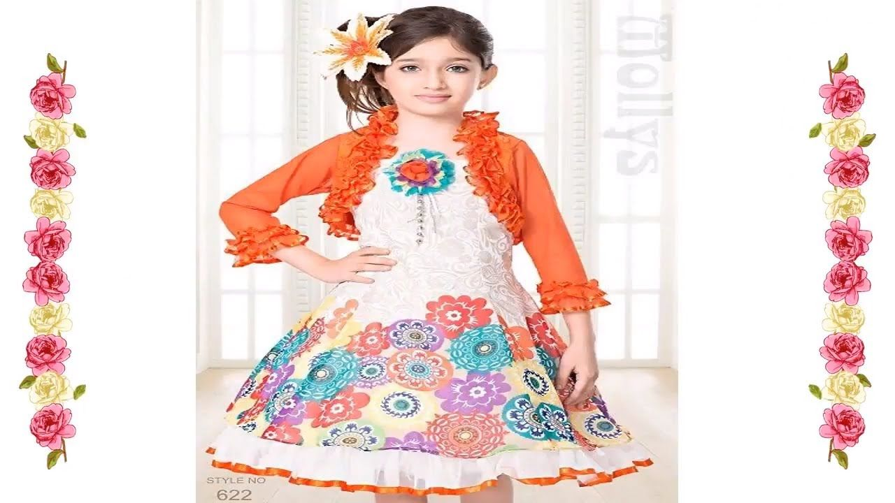 e5496ea6a005 Winter Collection New Fancy Cotton Baby Frock Designs - Kids Frock ...