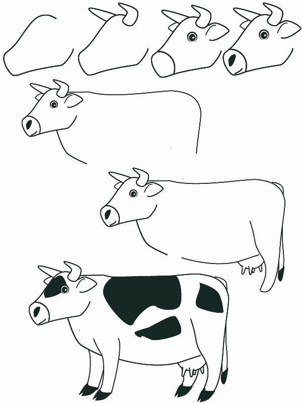 Dessin de vache 1815 comment dessiner dessine moi un - Animal a dessiner ...