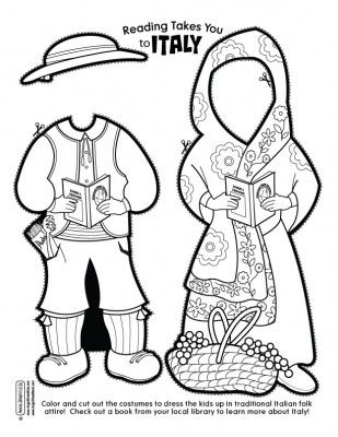 Italy paper doll clothes link