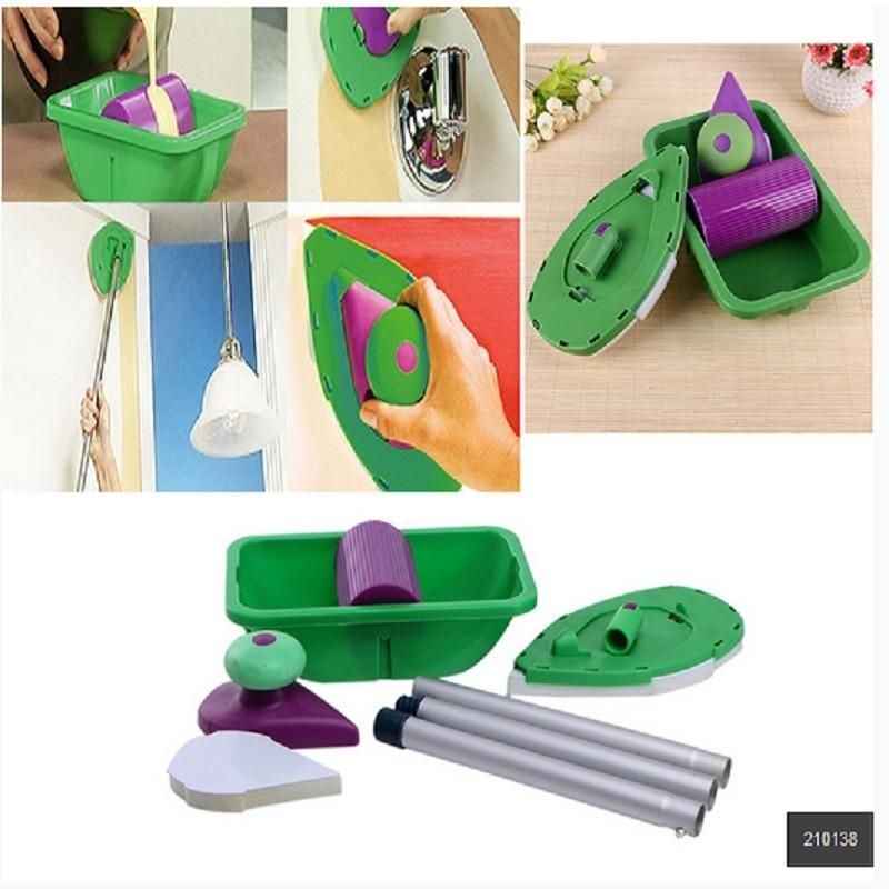 Super Easy Diy Wall Painting 9pcs Set Decorative Paint Roller And Tray Set Paint Pad Pro Painting Roller Brush Point N Paint Household Wall Decoration Tool Diy Wall Painting Paint Roller Diy