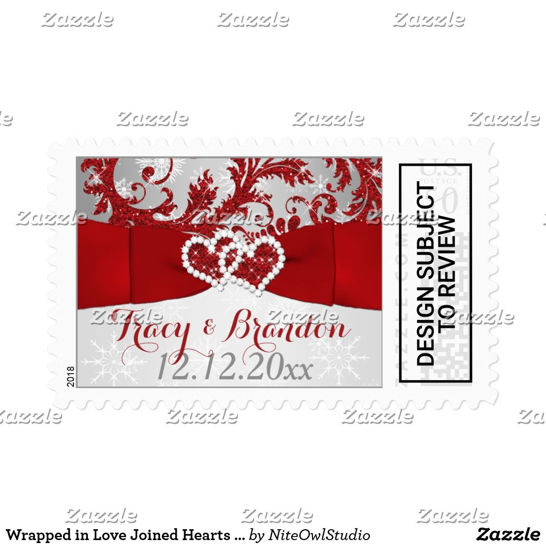 Wrapped in Love Joined Hearts Wedding Postage | { Wedding ...