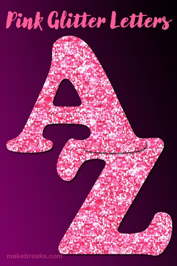 Free Printable Pink Glitter Letters to Download | Free ...