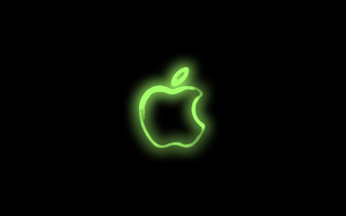 Neon Green Backgrounds Neon Wallpaper By Iville For Full Size Click Download Apple Neon Apple Logo Wallpaper Neon Wallpaper Black Apple Logo