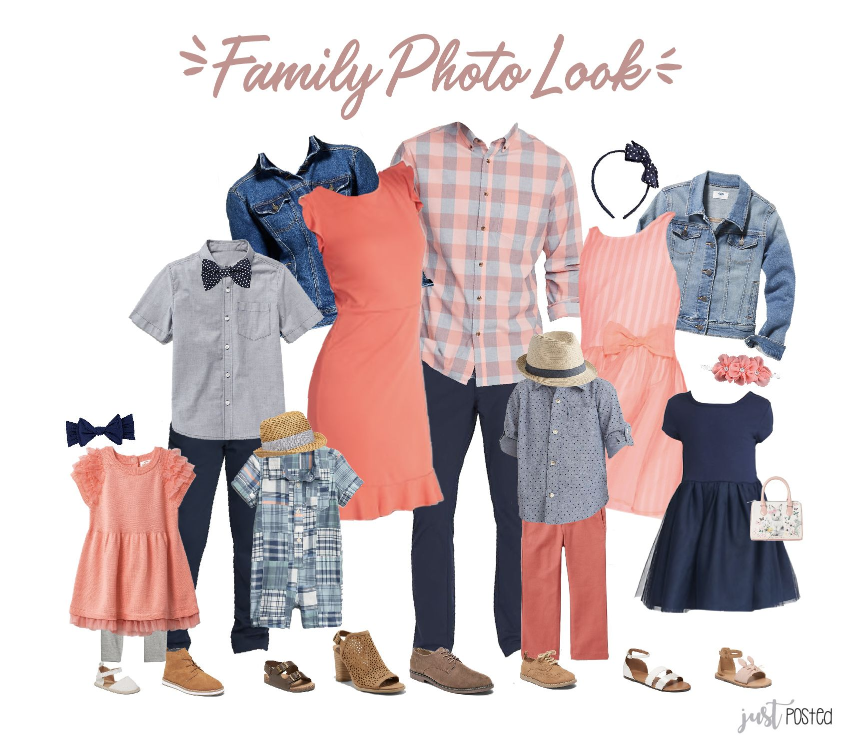 What to Wear for Family Pictures Spring Look - Easter Family Look