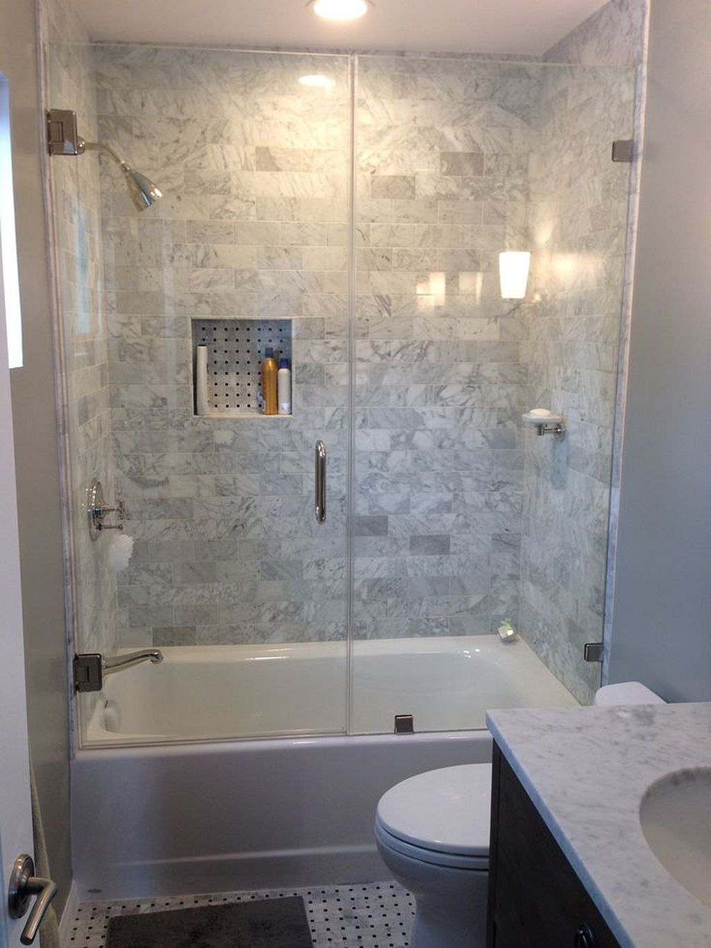 Tiny Bathroom Tub Shower Combo Remodeling Ideas 65 With Images