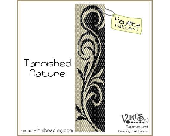 Peyote Pattern for bracelet: Tarnished Nature - INSTANT DOWNLOAD pdf - buy more, save more