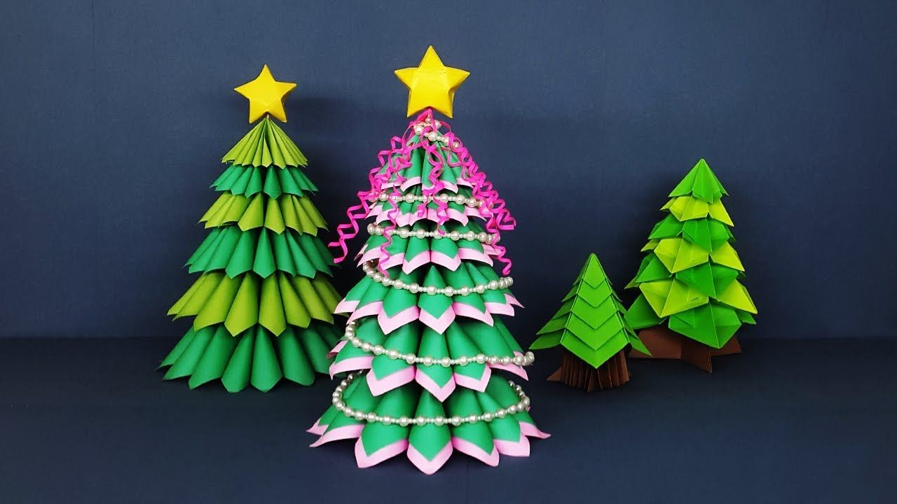 Amazing Crafts For Christmas Decor How To Make 3d Paper Christmas Tree Hello Enjoy A Innovati Paper Christmas Tree Christmas Crafts Diy Paper Christmas Tree