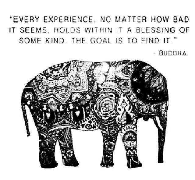 Every experience holds within it a blessing of some kind