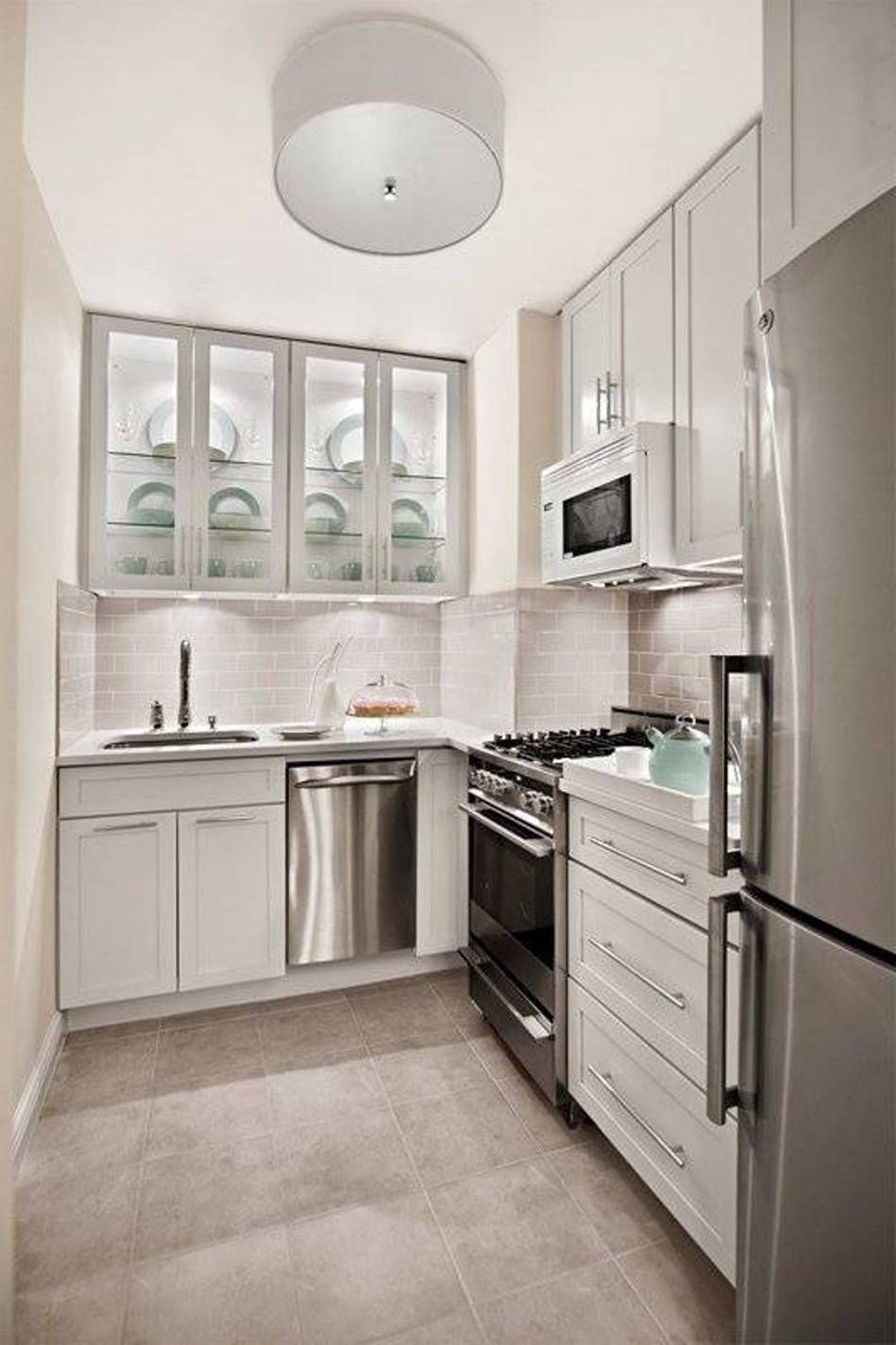 Kitchen: Small Kitchen Spaces Ideas Artistic Decorations: 12 Simple Photos  Smallu2026