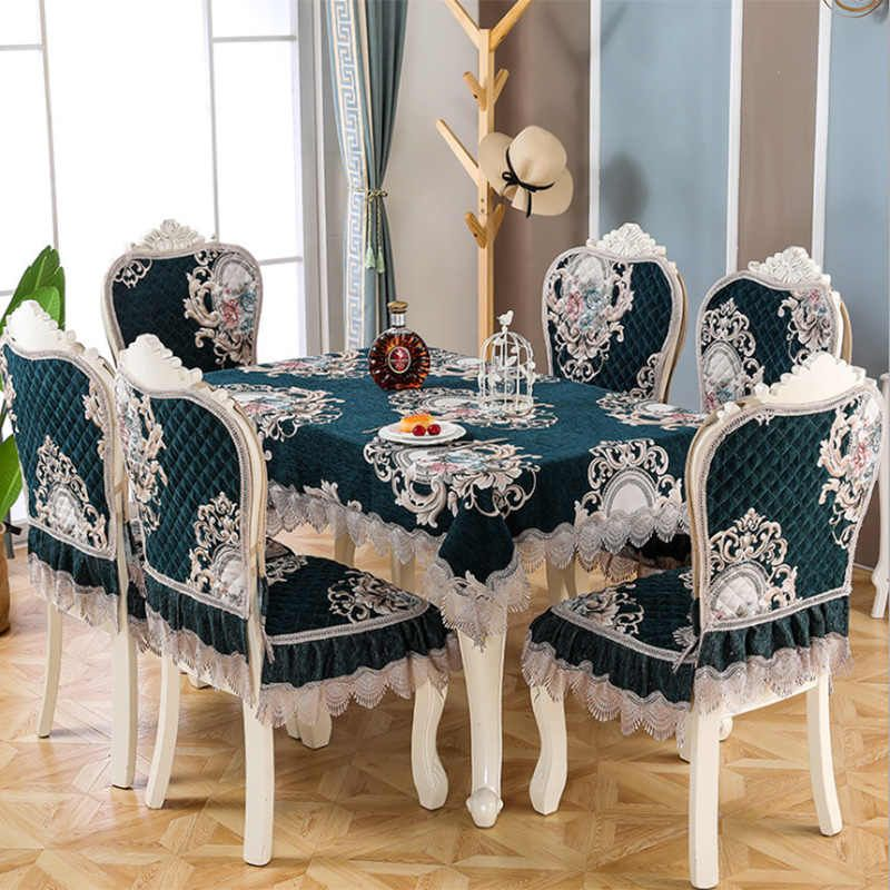 chair cover new lace embroidery european chinese dining
