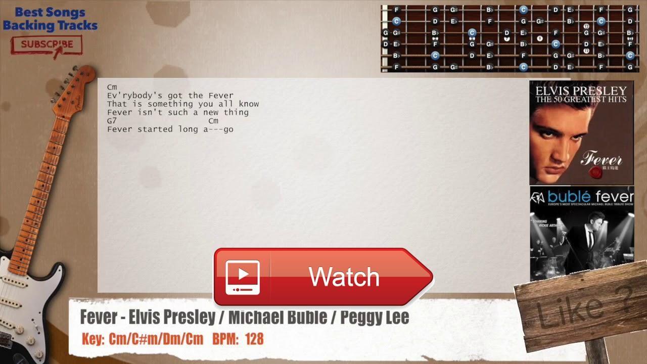 Fever Elvis Presley Michael Buble Peggy Lee Guitar Backing Track