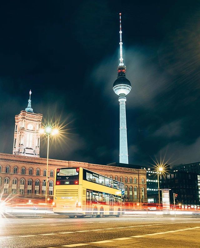 Rotes Rathaus Cn Tower Berlin Instagram
