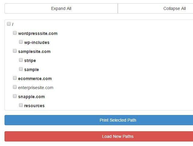 Hierarchical Directory List with jQuery and Bootstrap3