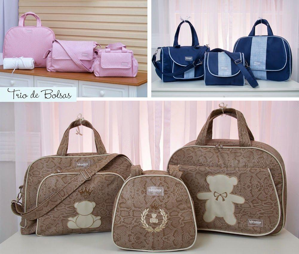 Bolsa com trocador super prática com alça regulável, trocador portátil, bolso interno e externo e divisão para mamadeiras by Biramar Baby.