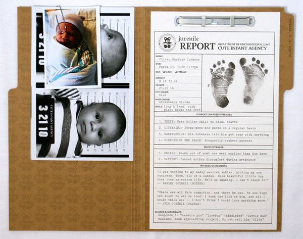 Lovely Baby Birth Announcement Card with Cute Baby Photo and Nice