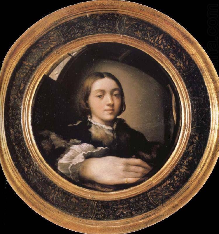 """il Parmigianino (1503 1540) """"Selfportrait in a convex"""