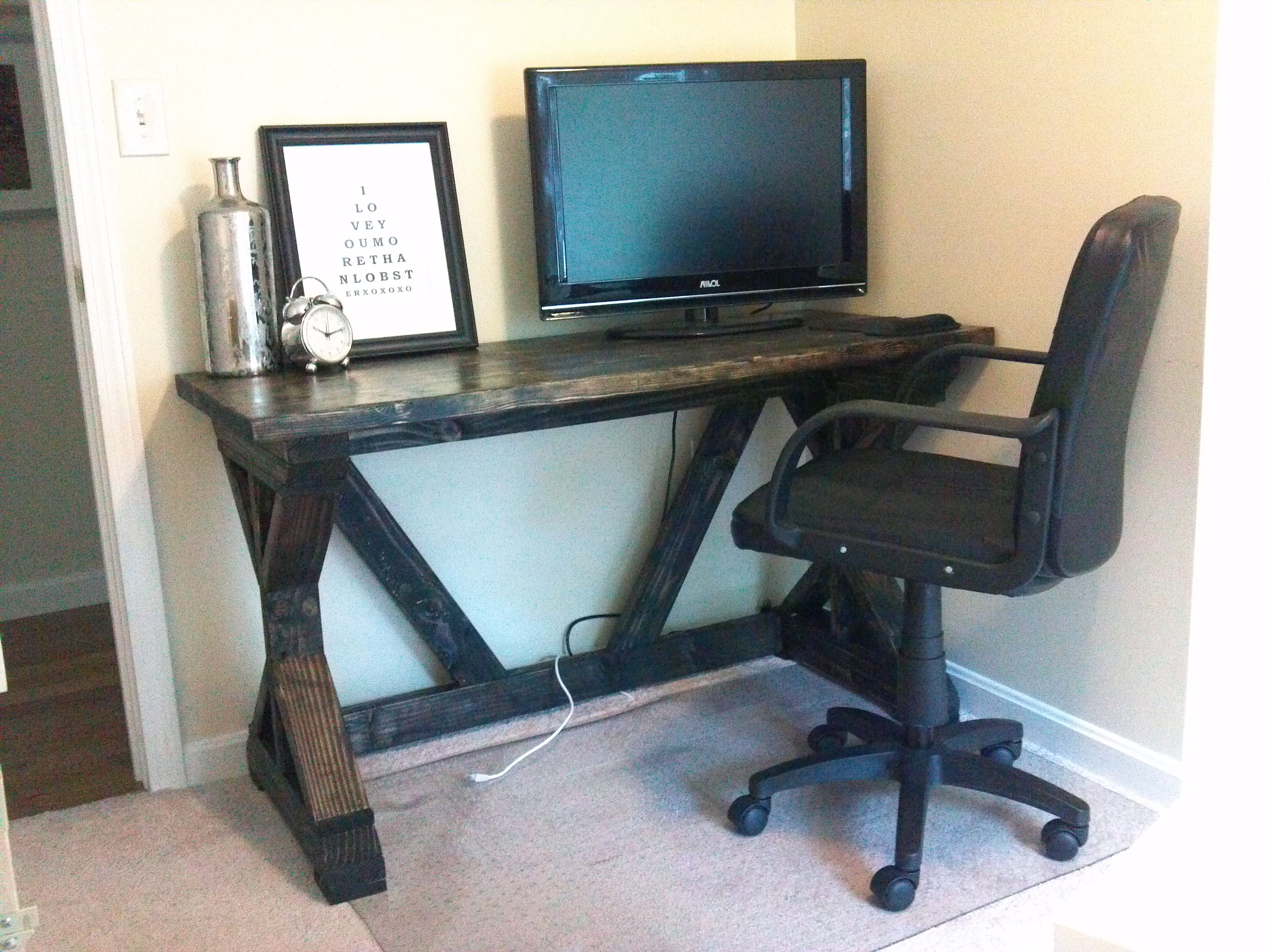 Fancy x desk do it yourself home projects from ana white love this fancy x desk do it yourself home projects from ana white love this website solutioingenieria Image collections